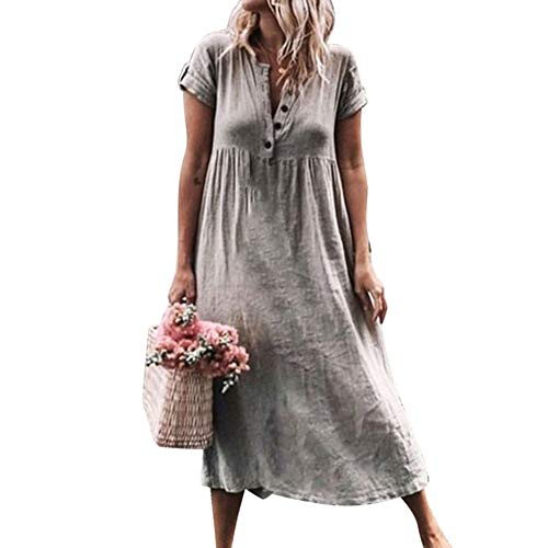 6668389f4b0d9 Women's V Neck Long Maxi Dress Sleeveless Baggy Boho Casual Beach Dress  Kaftan, Women Maxi Dress Casual Loose Pockets Sundress Sleeveless Dress  Summer Beach ...