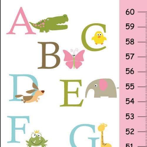 (Personalized ABC Growth Chart for Girls )
