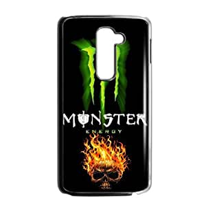 Special Design Cases LG G2 Cell Phone Case Black Monster Energy Nzrpx Durable Rubber Cover