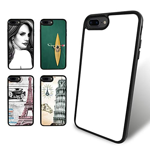 O BOSSTOP 5PCS Sublimation Blanks Phone Cases Covers for iPhone 8 Plus and iPhone 7 Plus 5.5 Inches Make Your Own Personalize Phone Cases (Best O Plus Phone)