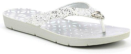 Tongs Inblu, Pantoufles, Sous-vêtements Pour Femmes Mod. Me-12 Blanc
