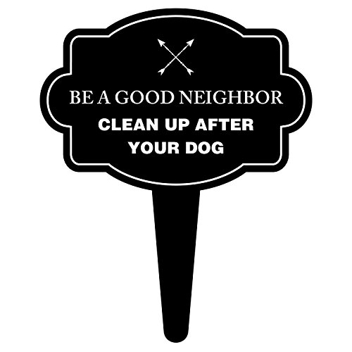 iCandy Products Inc Be A Good Neighbor Clean Up After Your Dog Sign No Poop No Peeing Pet Signs 15.5x18 Inches - Aluminum