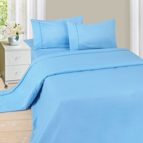 Lavish Home 1200 4-Piece Sheet Set, Queen, Blue