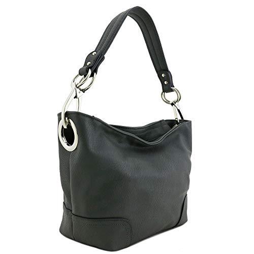 Gray Hobo Handbag - 9