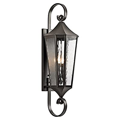 Kichler 49512OZ, Rochdale Cast Aluminum Outdoor Wall Sconce Lighting, Olde Bronze