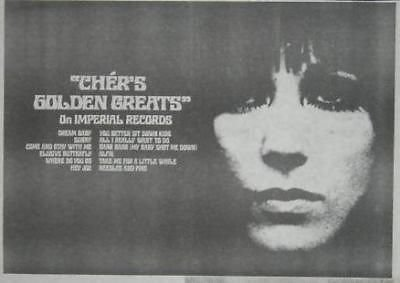 Cher Golden Greats 1968 LP Album Promo Poster Newspaper (1968 Promo Poster)