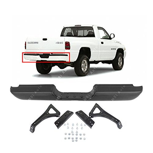 - MBI AUTO - Primered, Steel Rear Step Bumper Assembly for 1994-2002 Dodge RAM Pickup 94-02, CH1102332