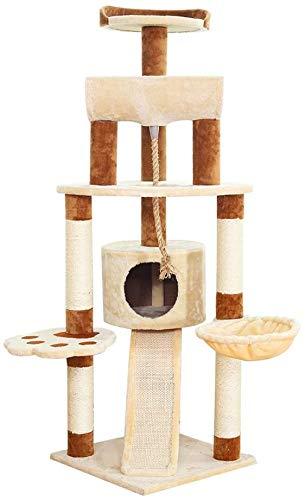 FTFDTMY Großer Kratzbaum, Tierhandlung Spielzeug Katzenbedarf Indoor Holz Sisal Cat Jumping Platform Yan (Größe: 49 * 49…