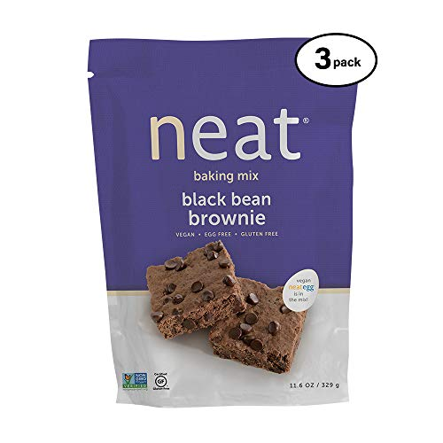 - neat - Plant-Based - Black Bean Brownie Mix (11.6 oz.) (Pack of 3) - Non-GMO, Gluten-Free, Soy Free, Baking Mix