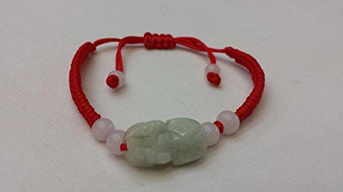 - Good Luck Handmade Red String Bracelet with Burma Jade Pi Xiu Charm
