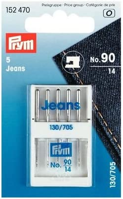 Prym 5 Jeans Sewing Machine Needles No.90-14 130//705 152470