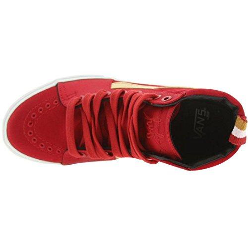 Vans X Huf Satin Sk8-hi Lx (röd / Guld)