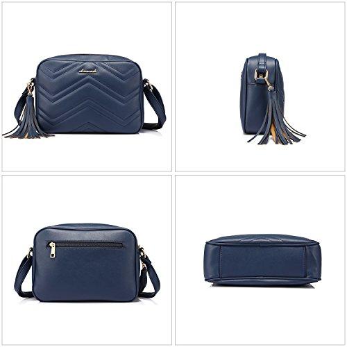 borla hombro Azul cruzado bolsas Negro cuerpo con de Pequeñas laterales Bolsos bolsos bandolera de bolso wHf1C4Uqp