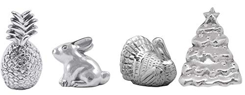 Mariposa Napkin Weights - Set of Four Pieces - Turkey, Rabbit, Pineapple, and Christmas Tree ()