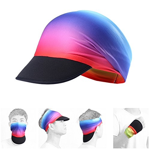 AXBXCX Soft Brim Sun Visor Cap Yoga Headband Women Headwrap with UV Sun Protective for Fishing Motorcycling Hunting Airsoftball Running Hiking Rainbow 58