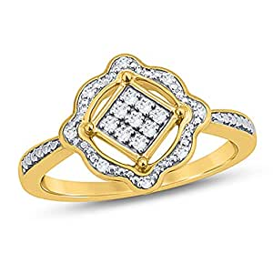 Revere Women's 18k Solid Yellow Gold Fashion Ring