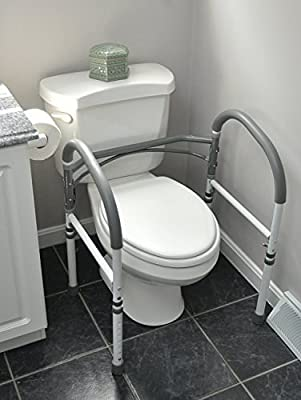 Deluxe Bathroom Safety Toilet Rail