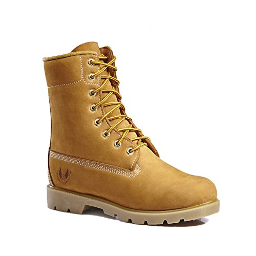 KINGSHOW Mens 1366 Water Resistant Premium Work Boots Wheat8006