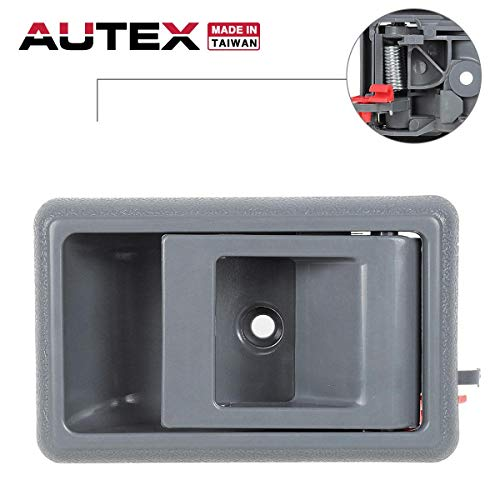 AUTEX Door Handle 77121 Interior Front/Rear Left Driver Side Compatible with Toyota 4Runner Pickup 1989-1995 Replacement for Toyota Tacoma 95-00,Toyota Corolla 88-93