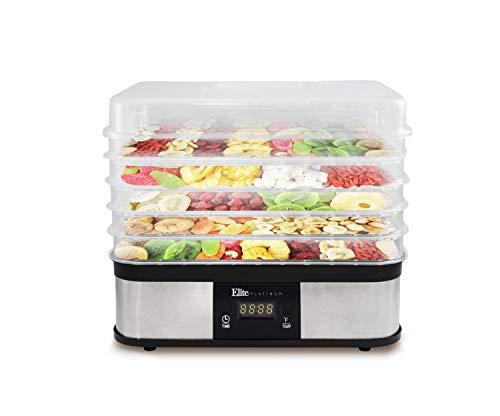 (Elite EFD-1159D Digital Food Dehydrator, 5 Trays, Stainless Steel)