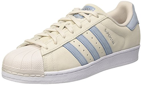 adidas Men's Superstar Trainers Grey (Pearl Grey/Tactile Blue/Tactile Blue)