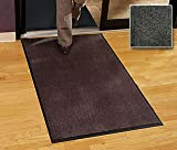 Residential Entry Mat - ''Carpet Mat Classic'' - 4' x 10' - Charcoal - Economy Grade Entry Mat