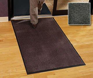 Residential Entry Mat - ''Carpet Mat Classic'' - 4' x 10' - Charcoal - Economy Grade Entry Mat by Carpet Mat Classic