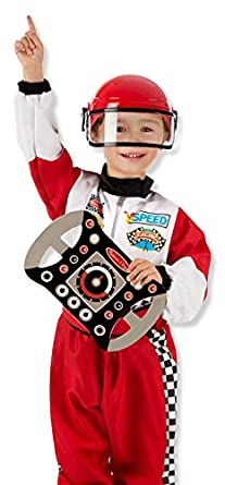 race car driver dress up set costume for kids