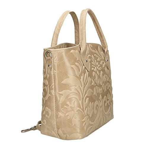 véritable cuir Sac Cm Borse à Femme Boue Italie en 35x28x11 en fabriqué Chicca main 0Rqf44