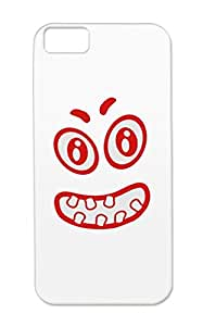 Face Smilie Red TPU Laugh Funny Smilie Cartoon Joke Mouth Great Teeth Eyes Smile Funny Humour Humor Case Cover For Iphone 5c
