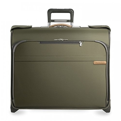 Briggs & Riley Baseline Deluxe Wheeled Garment Bag, Olive, Small by Briggs & Riley