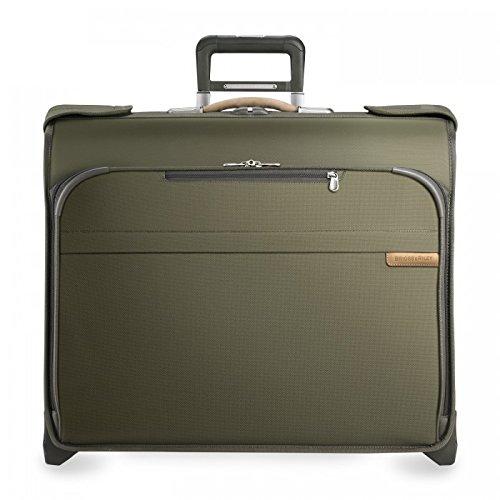 Briggs & Riley Lightweight Garment Bag - Briggs & Riley Baseline Deluxe Wheeled Garment Bag, Olive, Small