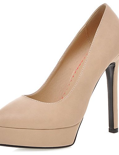 GGX/Damen Schuhe Stiletto Heel/Plattform/spitz Toe Heels Party & Abend/Kleid Schwarz/Weiß/Mandel almond-us9 / eu40 / uk7 / cn41