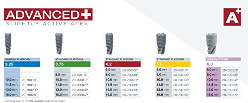 Paltop 20-70018P Advanced Plus Dental Implant, 3.25 mm Diameter, 10 mm Sterilized by Paltop (Image #2)