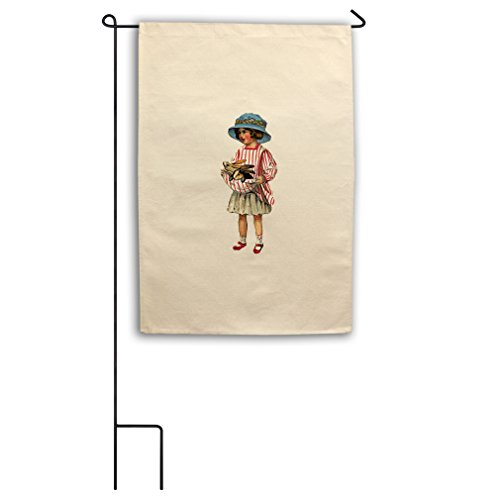 "Style in Print Canvas Yard Garden Flag 18""X27"" Girl Holding"