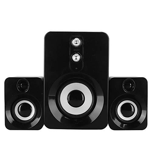 Bindpo Computer Speaker Set,Mini USB Multimedia Desktop PC Subwoofer Speaker with 360° Surround Stereo Sound,for Desktop…