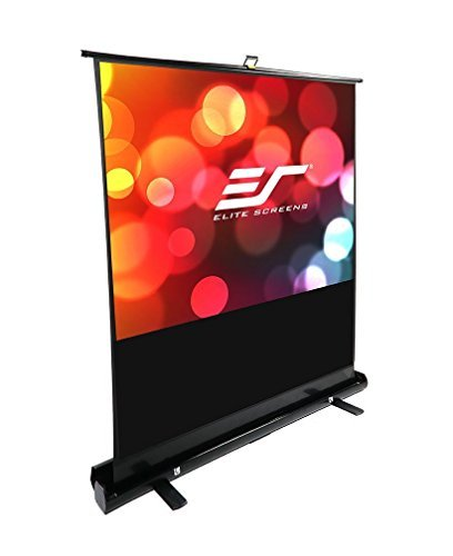 Elite Screens Reflexion Series, 110-inch Diagonal 16:9, Portable Floor Pull Up Projection Screen, Model: FM110H