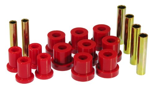 (Prothane 7-1013 Red Front Spring Eye and Shackle Bushing Kit)