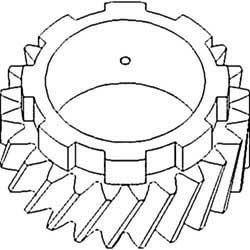 - Pinion Shaft - 4th Gear, New, Allis Chalmers, 70228294