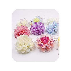 END GAME 5pcs Silk Carnation Head Bouquet Wedding Wrist Artificial Flowers for Home Wedding Accessories 56