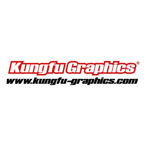 Kungfu Graphics Rockstar Custom Decal Kit for Yamaha YZ125 YZ250 1996 1997 1998 1999 2000 2001, Black White by Kungfu Graphics (Image #4)'