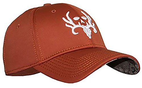 Bone Collector Brotherhood Skull Stretch Fit Cap, Orange