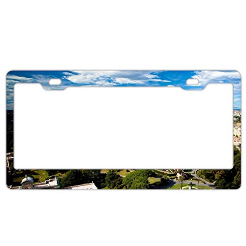GGRGVR Aluminium Italy Roma Rome Height City Trees License Plate Frame,Personalized Home Decoration (Roma Height Of)