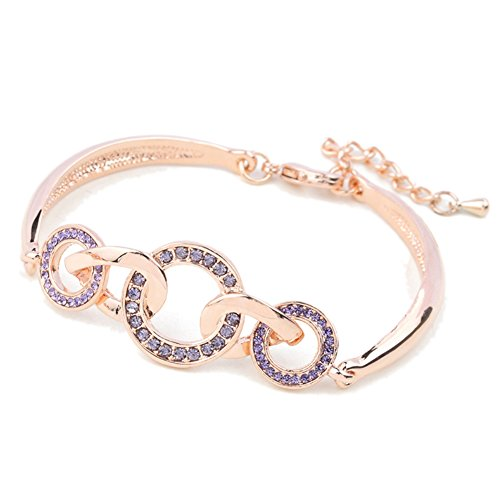 BL-070345C4 Blend Korean Version Round Diamonds Women's Bracelet