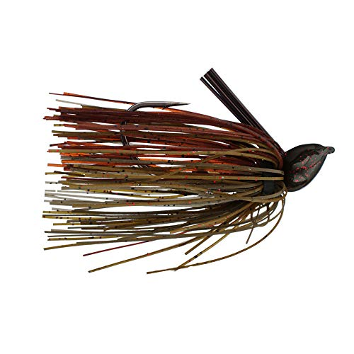 Strike King TDJ12-46 Tour GradeFootball Jig, 1/2-Ounce, Green Pumpkin Craw