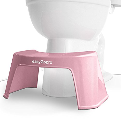 easyGopro 7.5 Bathroom Toilet Squatty Foot Stool | All Ages | One Size | Pink