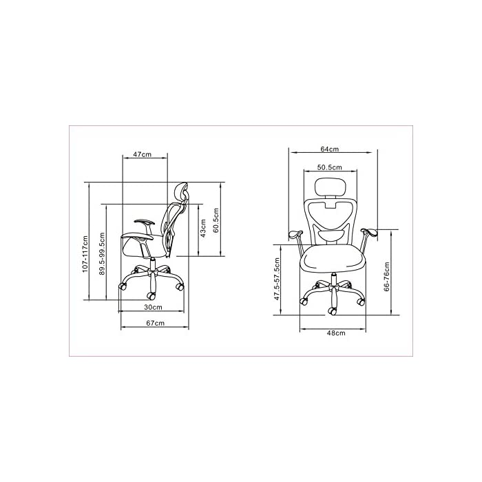 41KDfJtZ4oL Diseño especial para habitaciones calurosas. Gracias al tapizado en red del reposacabezas y el respaldo, se asegura de que tanto la espalda como la cabeza pueden transpirar Asiento acolchado para proporcionar una mayor comodidad mientas se está sentado en la silla. También incluye un mecanismo de balanceo para poder hacer las pausas más cómodas La silla dispone de reposacabezas y reposabrazos. El reposacabezas está tapizado con red, al igual que el respaldo. De este modo se asegura que toda la espalda y la cabeza pueden ranspirar libremente