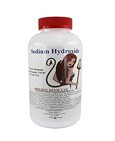 2 lb Red Hot Devil Lye Sodium Hydroxide Meets Food Chemical Codex High Grade Caustic Soda Beads Duda Energy 2drhdl-newlye