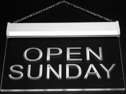 Multi Color i449-c Open Sunday Shop Bar Pub Beer Neon LED Sign with Remote Control, 20 Colors, 19 Dynamic Modes, Speed & Brightness Adjustable, Demo Mode, Auto Save (Open Sunday Neon Sign)
