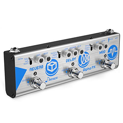 Fx Guitar - Donner Mini Effect Chain Alpha FX Guitar Effect Pedal Modulation, Delay and Reverb Effects